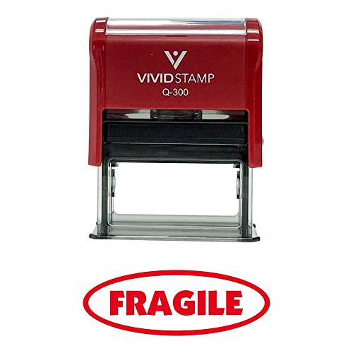Fragile Office Self-Inking Office Rubber Stamp