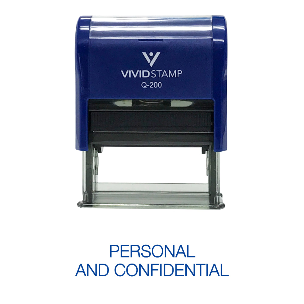 Personal And Confidential Rubber Stamp