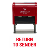 Return To Sender Classic Self Inking Rubber Stamp