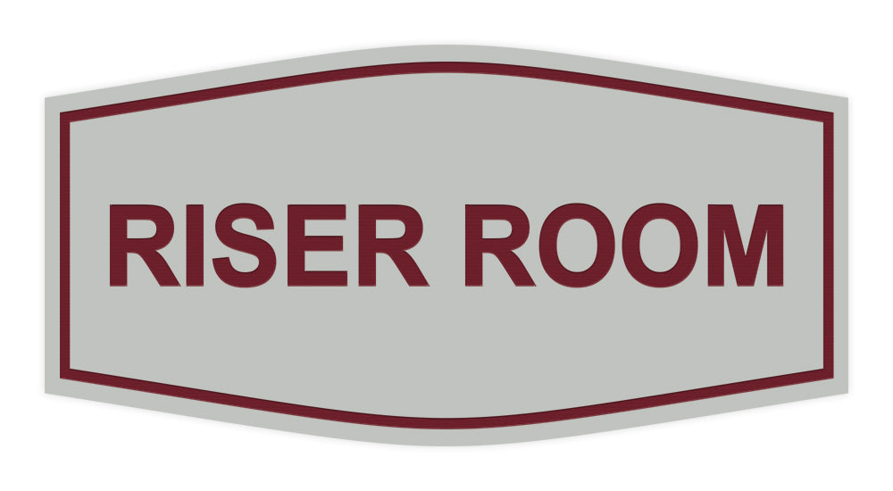 Light Grey / Burgundy Signs ByLITA Fancy Riser Room Sign