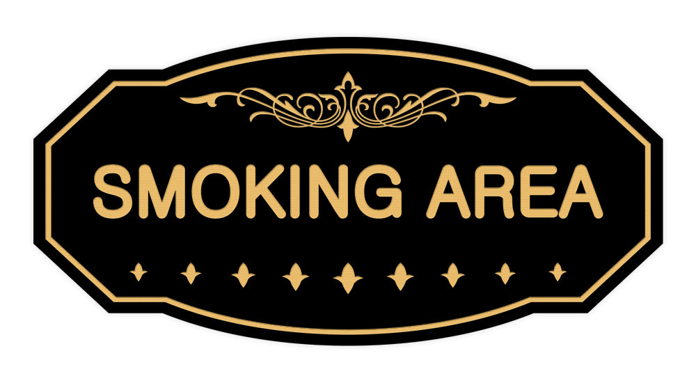 Victorian Smoking Area Sign