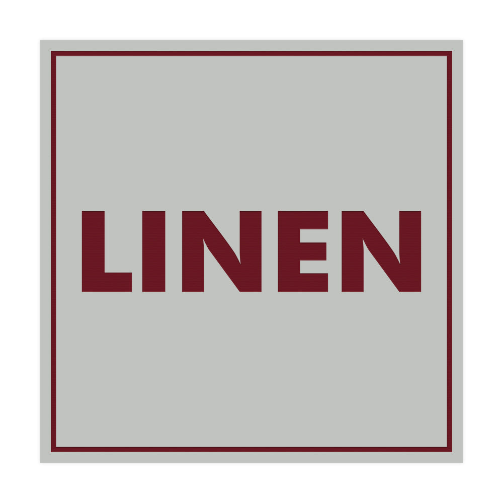 Signs ByLITA Square Linen Sign with Adhesive Tape, Mounts On Any Surface