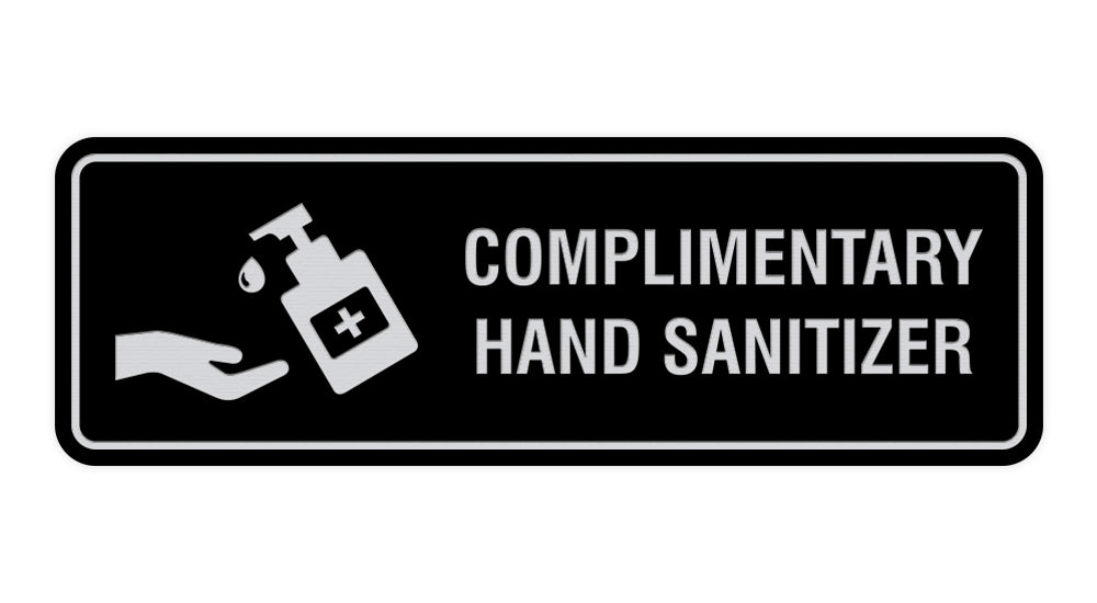 Signs ByLITA Standard Complimentary Hand Sanitizer Sign