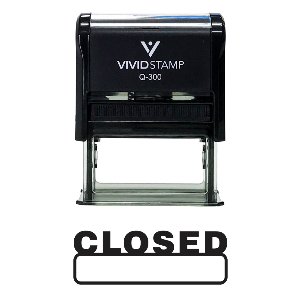 Basic Closed Self Inking Rubber Stamp