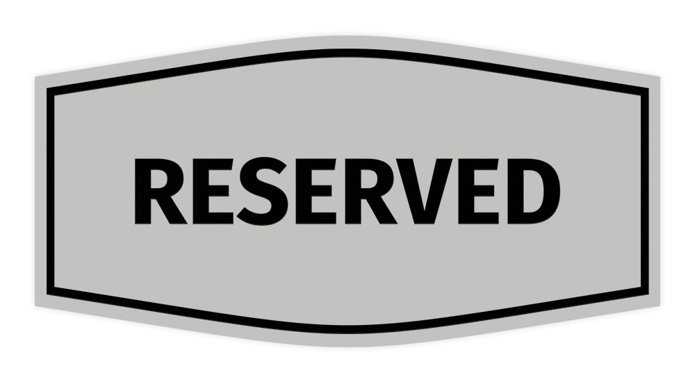Signs ByLITA Fancy Reserved Sign with Adhesive Tape, Mounts On Any Surface, Weather Resistant, Indoor/Outdoor Use