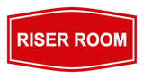 Red Signs ByLITA Fancy Riser Room Sign