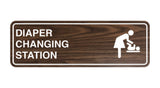 Walnut Signs ByLITA Standard Diapers Changing Station Sign