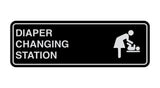Black / Silver Signs ByLITA Standard Diapers Changing Station Sign