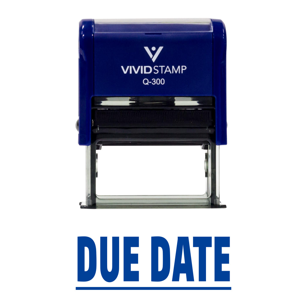 Due Date Self Inking Rubber Stamp