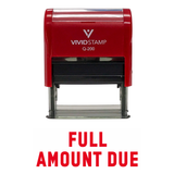 Full Amount Due Self Inking Rubber Stamp