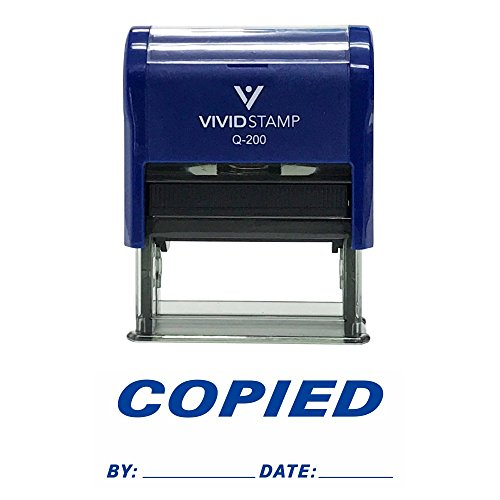 Copied By Date Self Inking Rubber Stamp