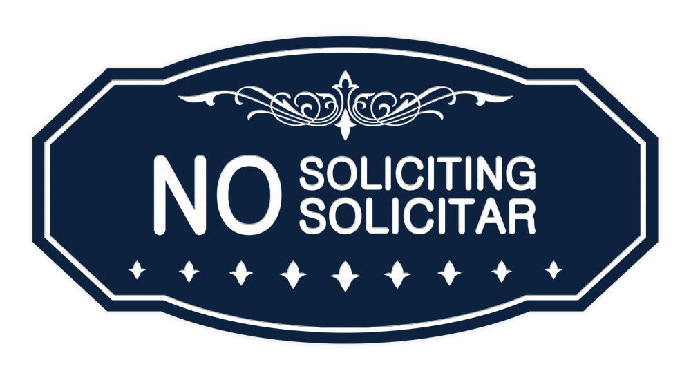 Victorian No Soliciting No Solicitar Sign