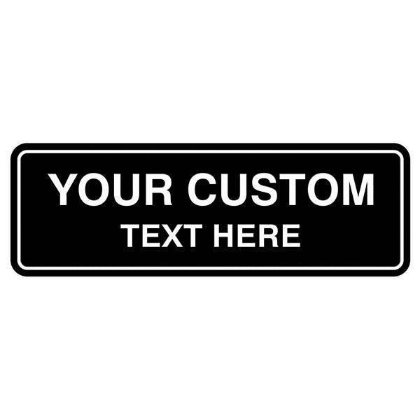 Office Signs - Custom Engraved By Style - Standard