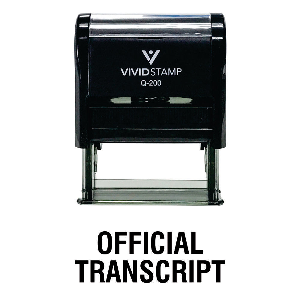 Official Transcript Self Inking Rubber Stamp