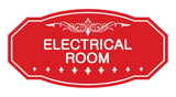 Red Victorian Electrical Room Sign