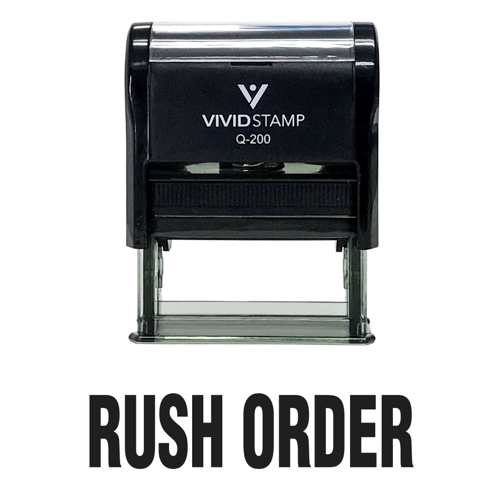 Rush Order Self Inking Rubber Stamp