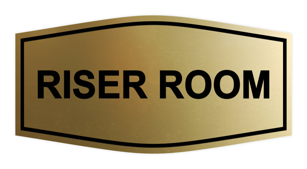 Brushed Gold Signs ByLITA Fancy Riser Room Sign
