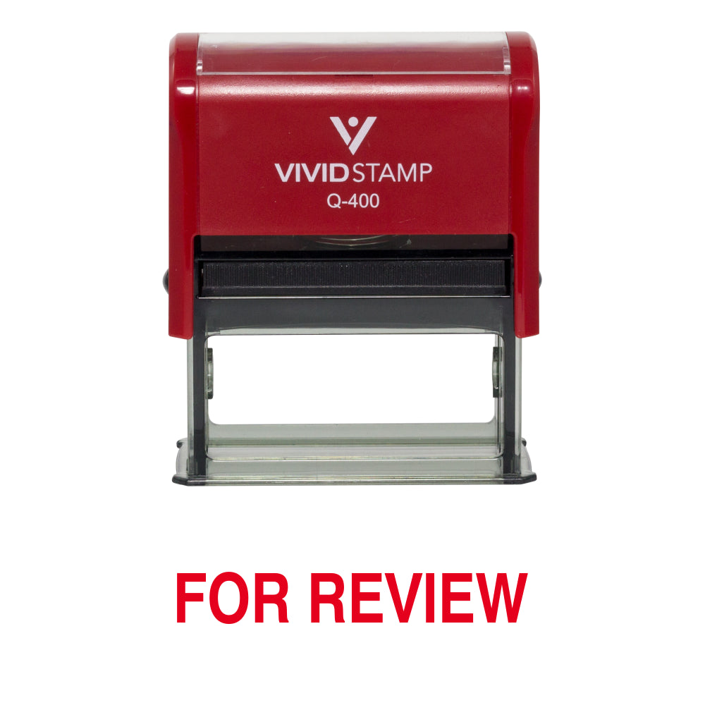 For Review Office Self Inking Rubber Stamp