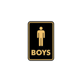 Portrait Round Boys Restroom Sign