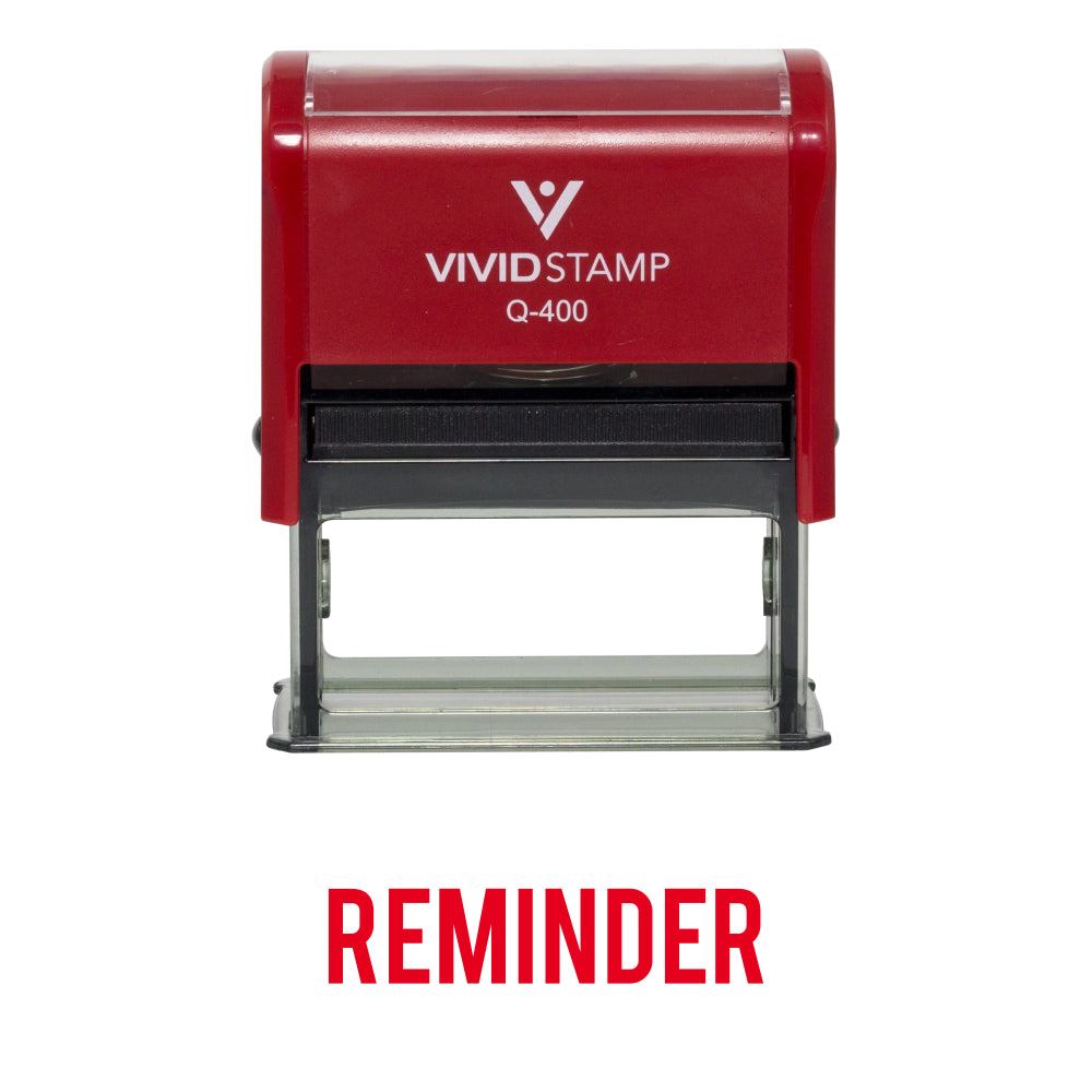 Reminder Self Inking Rubber Stamp