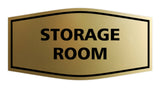 Brushed Gold Signs ByLITA Fancy Storage Room Sign