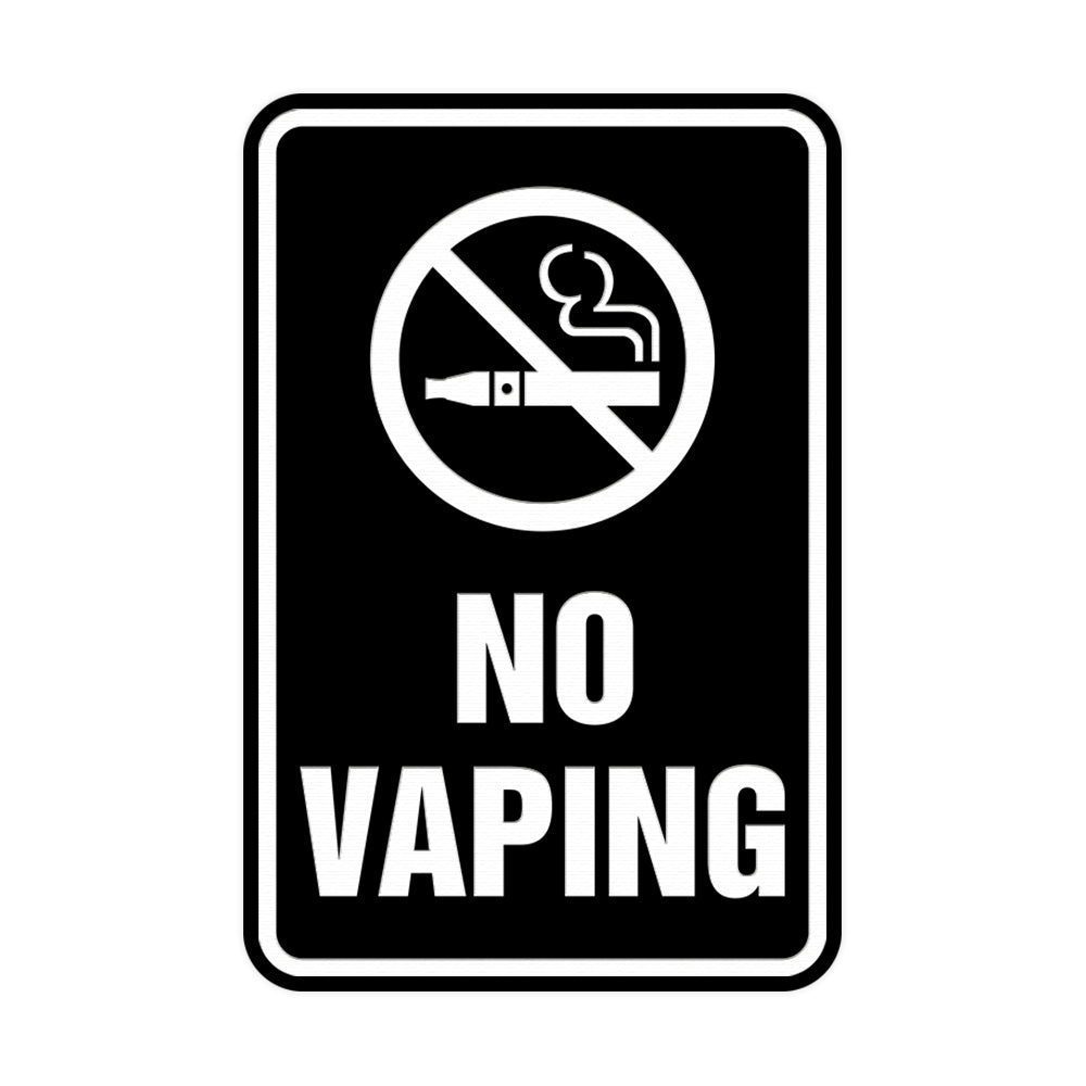 Portrait Round No Vaping Sign