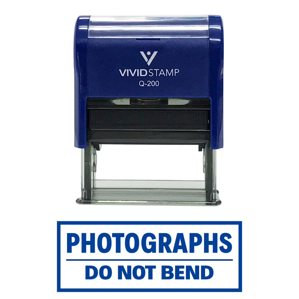 Photographs Do Not Bend Self Inking Rubber Stamp