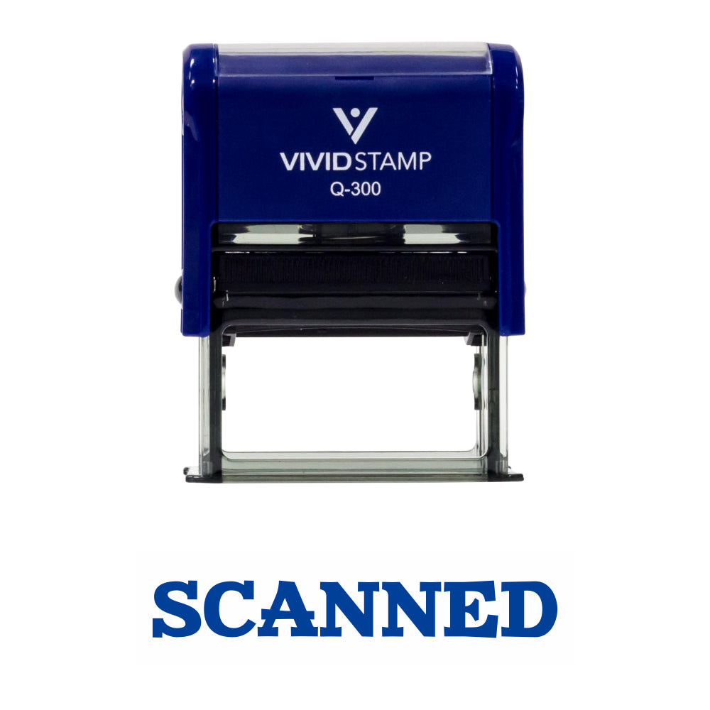 Simple SCANNED Office Self-Inking Office Rubber Stamp