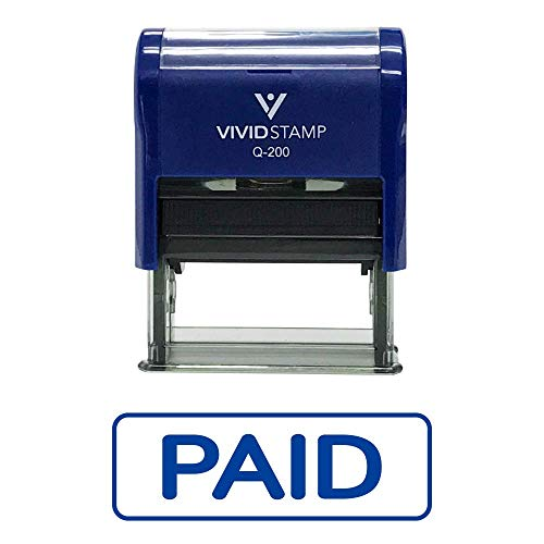 Simple Paid W/Border Self Inking Rubber Stamp
