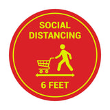 Signs ByLITA Circle Social Distancing Sign