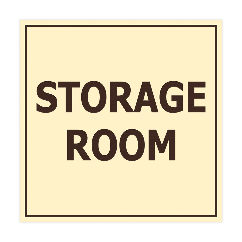 Signs ByLITA Square Storage Room Sign