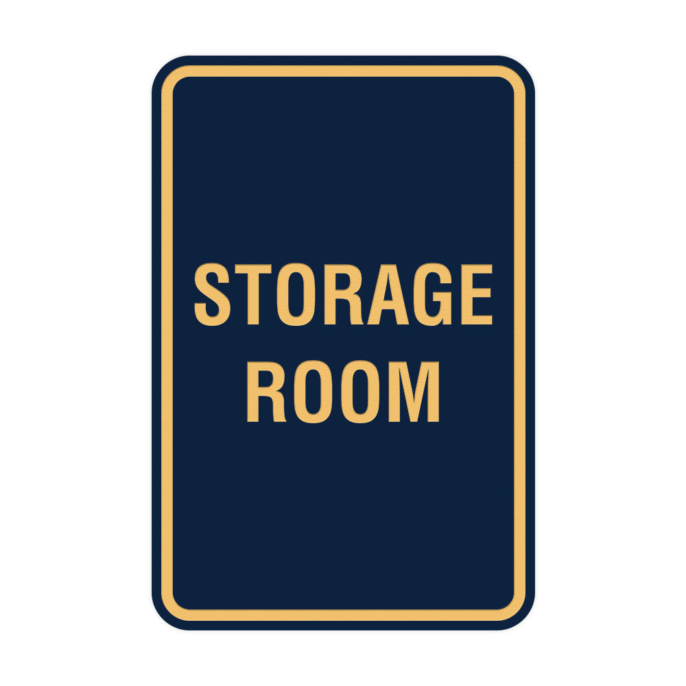 Portrait Round Storage Room Sign