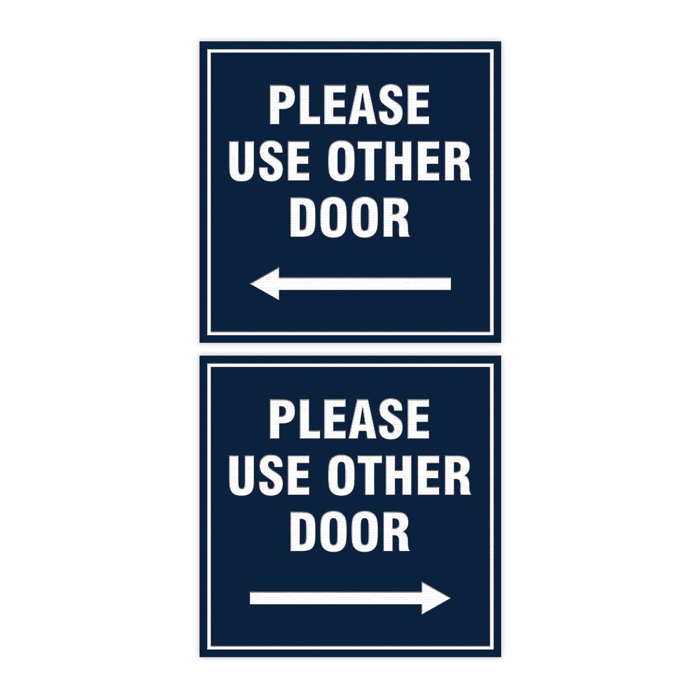 Signs ByLITA Square please use other door sign set with Adhesive Tape, Mounts On Any Surface, Weather Resistant, Indoor/Outdoor Use