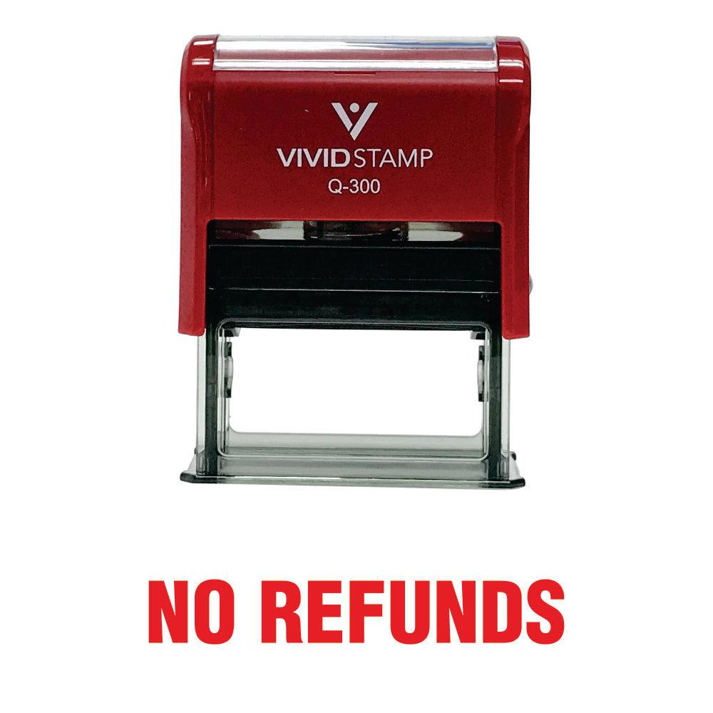 No Refunds Self Inking Rubber Stamp