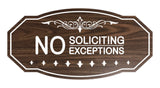 Victorian No Soliciting No Exceptions Sign