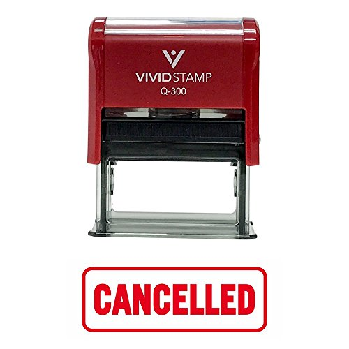 Cancelled W/Border Office Self-Inking Office Rubber Stamp