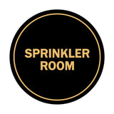 Signs ByLITA Circle Sprinkler Room Sign