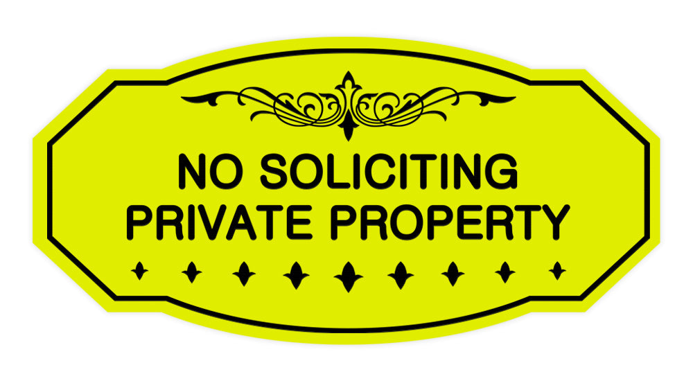 Victorian No Soliciting Private Property Sign