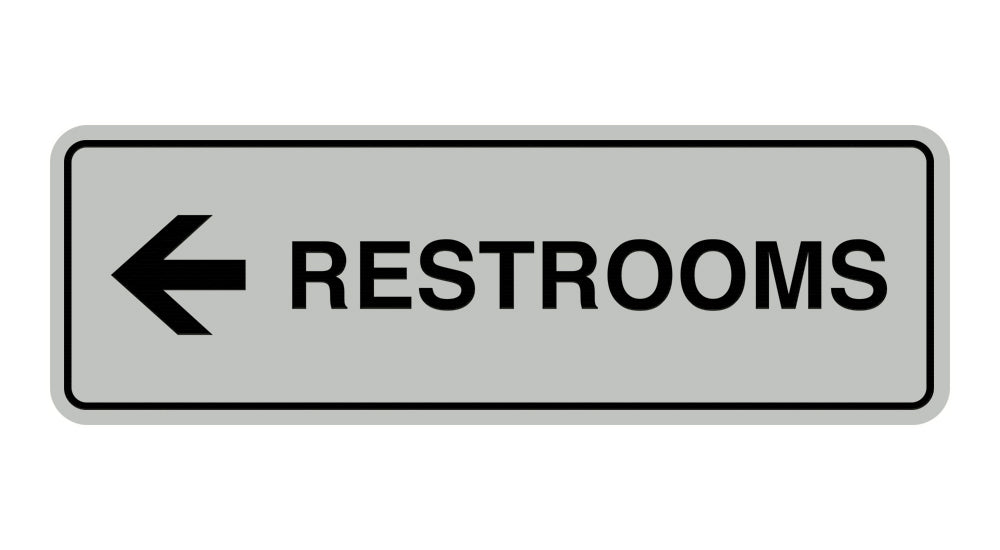 Signs ByLITA Standard RESTROOM (LEFT ARROW) Sign