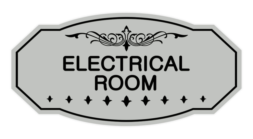 Lt Gray Victorian Electrical Room Sign