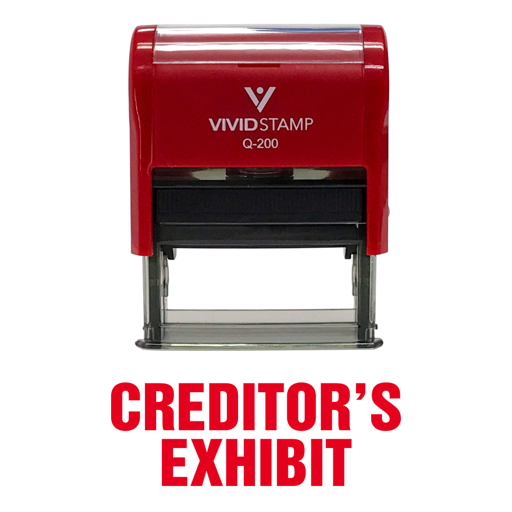 Creditor'S Exhibit Self Inking Rubber Stamp