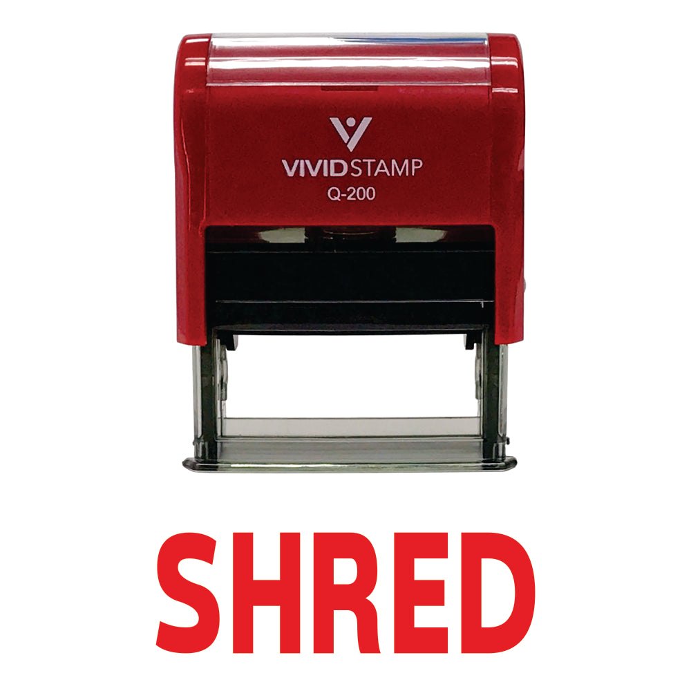 SHRED Self Inking Rubber Stamp