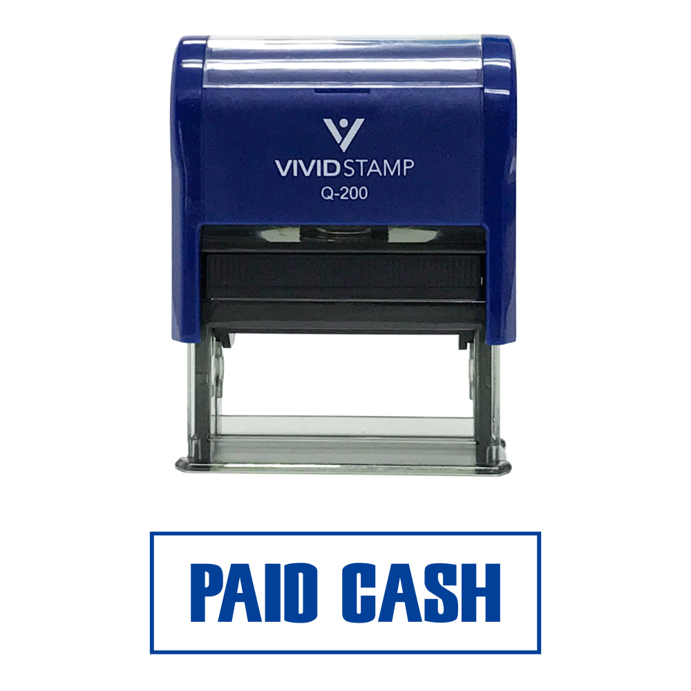 Paid Cash Self-Inking Office Rubber Stamp