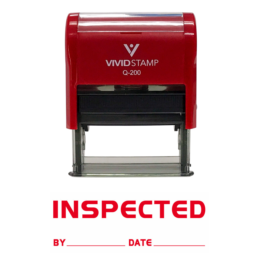 Inspected By Date Self Inking Rubber Stamp