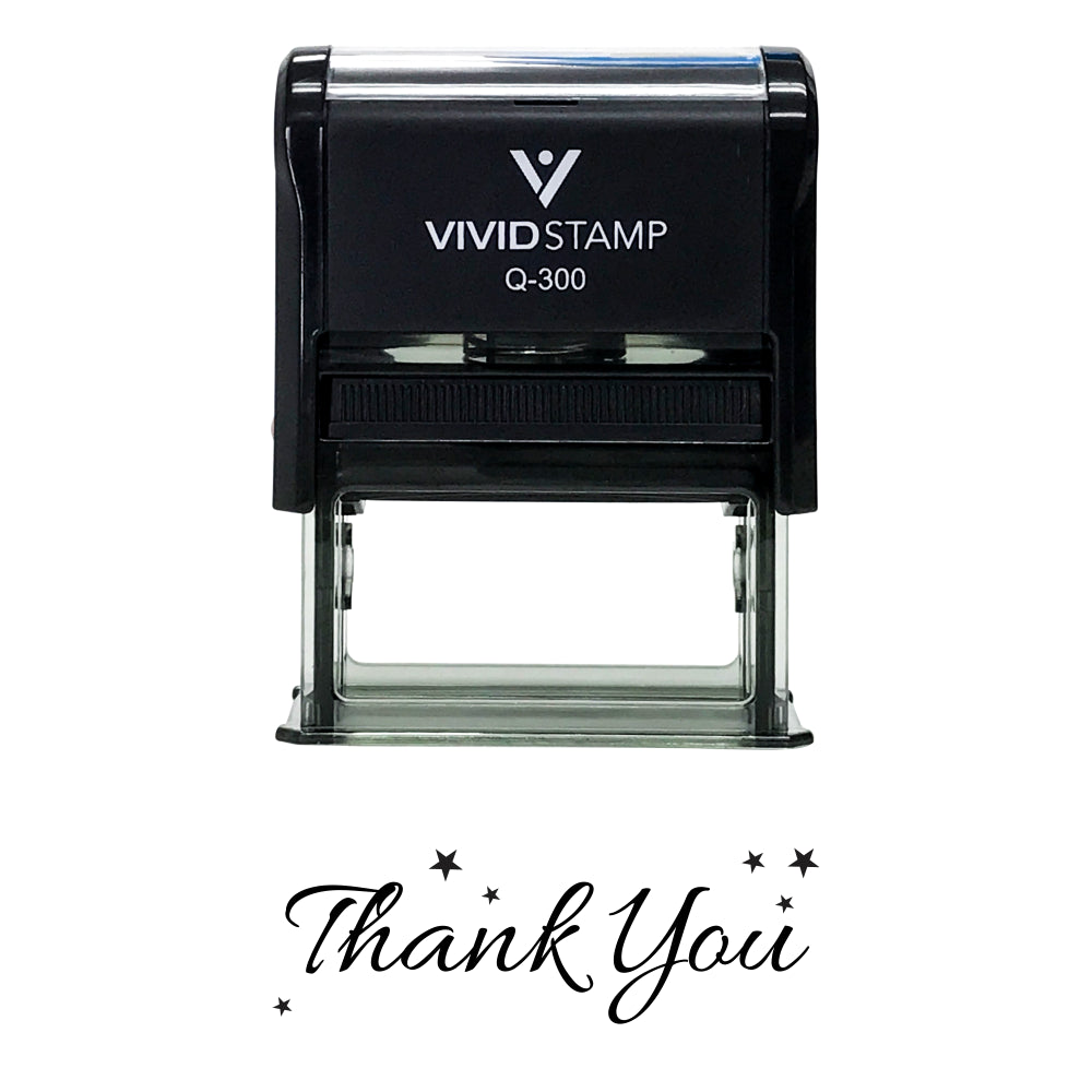 THANK YOU w/ Stars Self Inking Rubber Stamp
