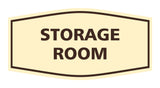 Ivory / Brown Signs ByLITA Fancy Storage Room Sign