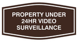 Fancy Property Under 24Hr Video Surveillance Sign