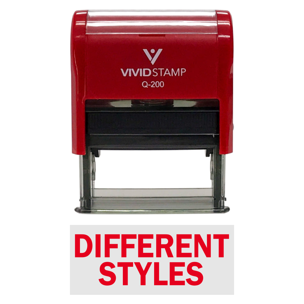DIFFERENT STYLES Self-Inking Office Rubber Stamp