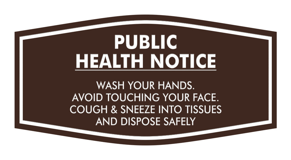 Fancy Public Health Notice Please Wash Your Hands Sign