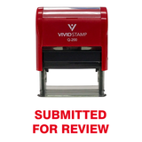 Submitted For Review Self Inking Rubber Stamp